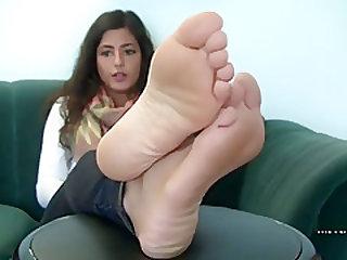 Cute girl feet